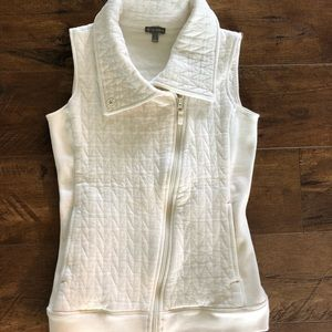 T by Talbots off white vest size P
